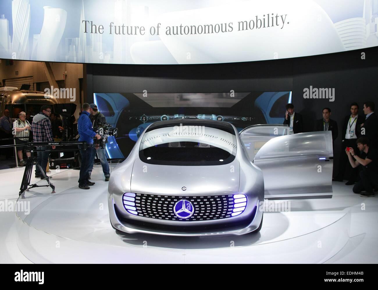 Las Vegas, NV, USA. 6th Jan, 2015. Mercedes-Benz F 015 Self-Driving Luxury Sedan Concept Car in attendance for 2015 - Stock Image