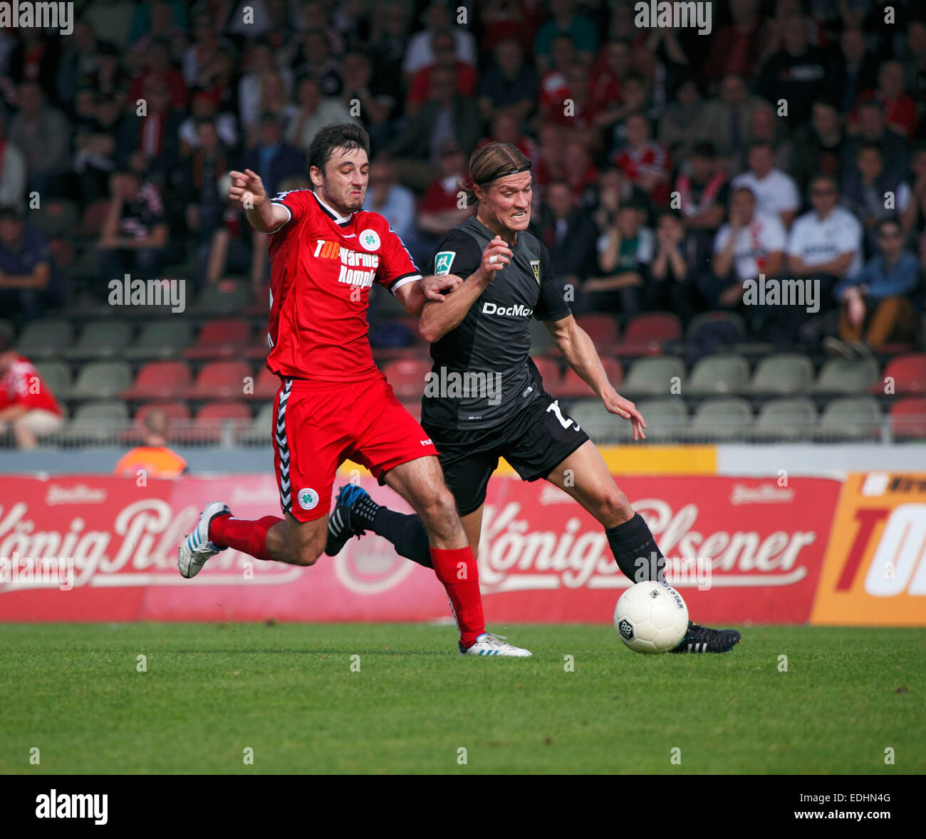 sports, football, Regional League West, 2014/2015, Rot Weiss Oberhausen versus Alemannia Aachen 0:0, Stadium Niederrhein Stock Photo
