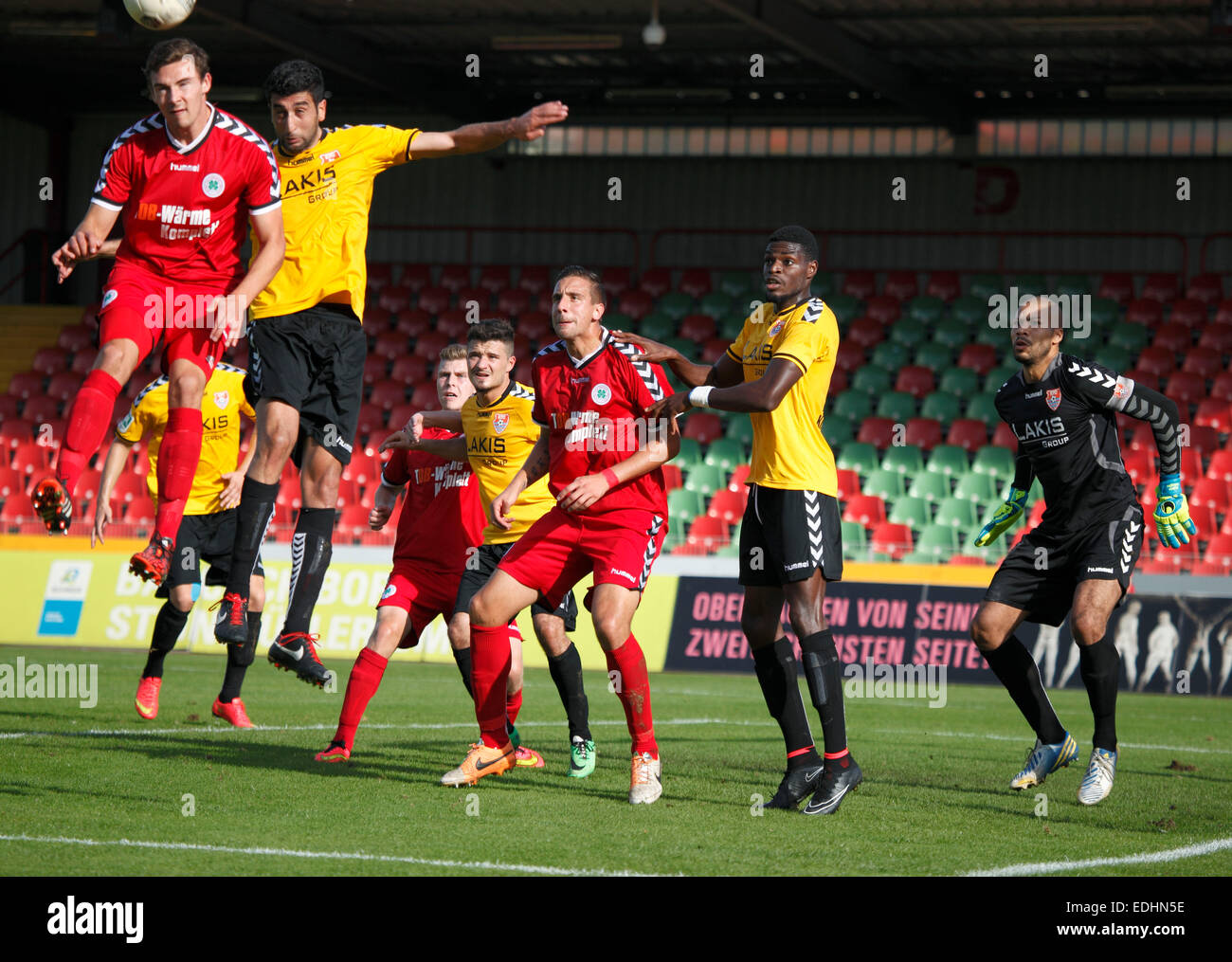 sports, football, Regional League West, 2014/2015, Rot Weiss Oberhausen versus KFC Uerdingen 05 1:2, Stadium Niederrhein - Stock Image