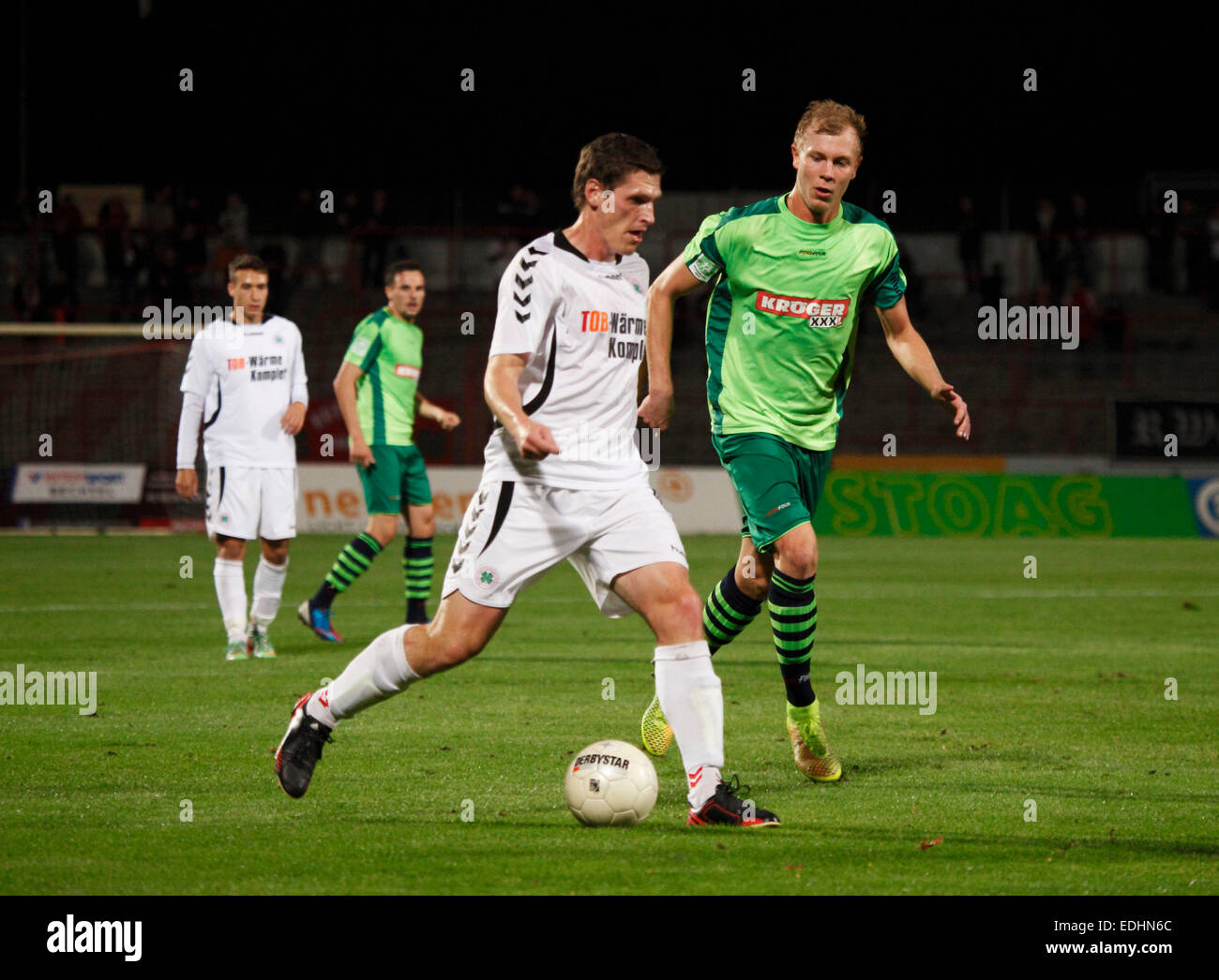 sports, football, Regional League West, 2014/2015, Rot Weiss Oberhausen versus FC Kray 3:2, Stadium Niederrhein Stock Photo