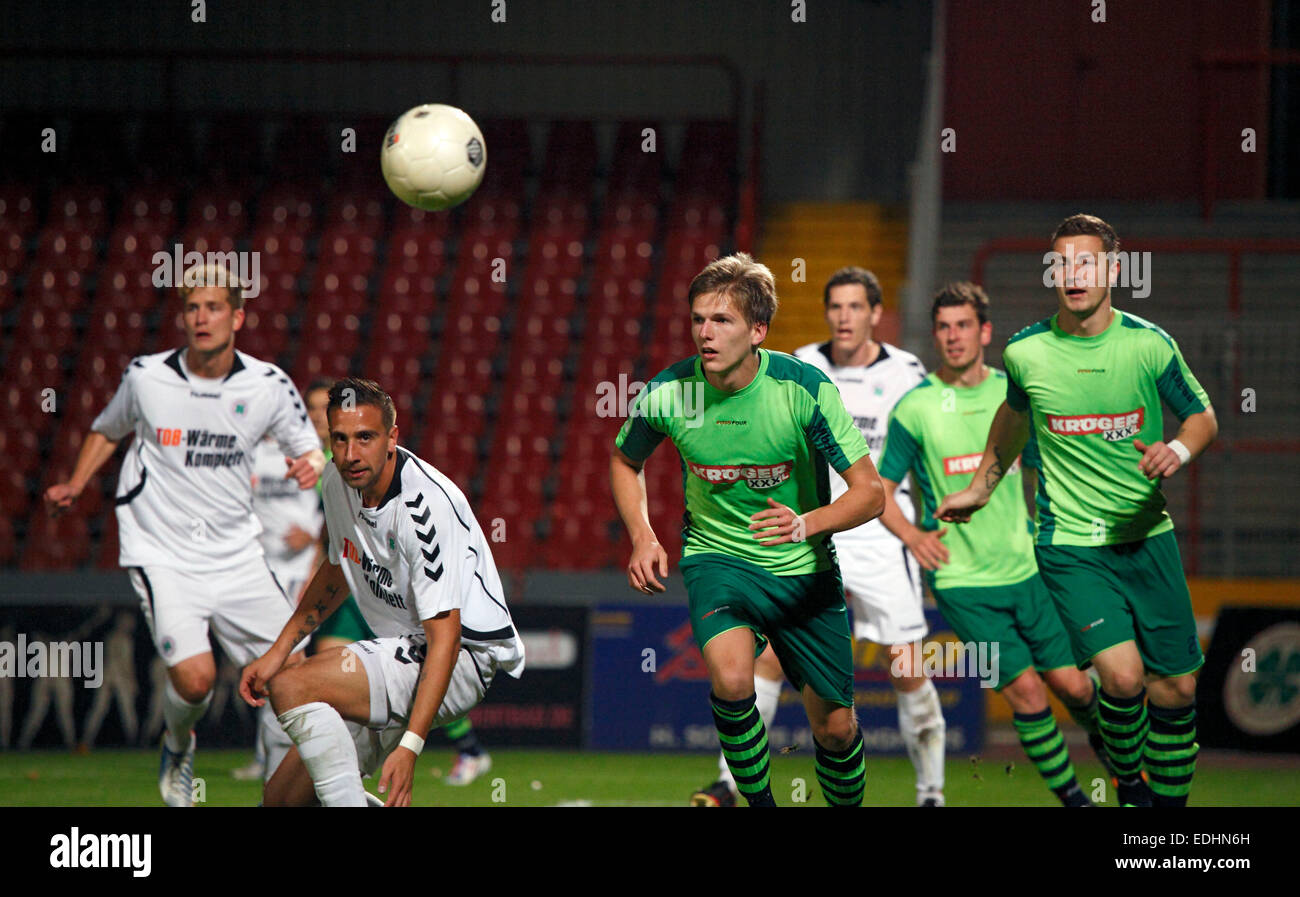 sports, football, Regional League West, 2014/2015, Rot Weiss Oberhausen versus FC Kray 3:2, Stadium Niederrhein - Stock Image