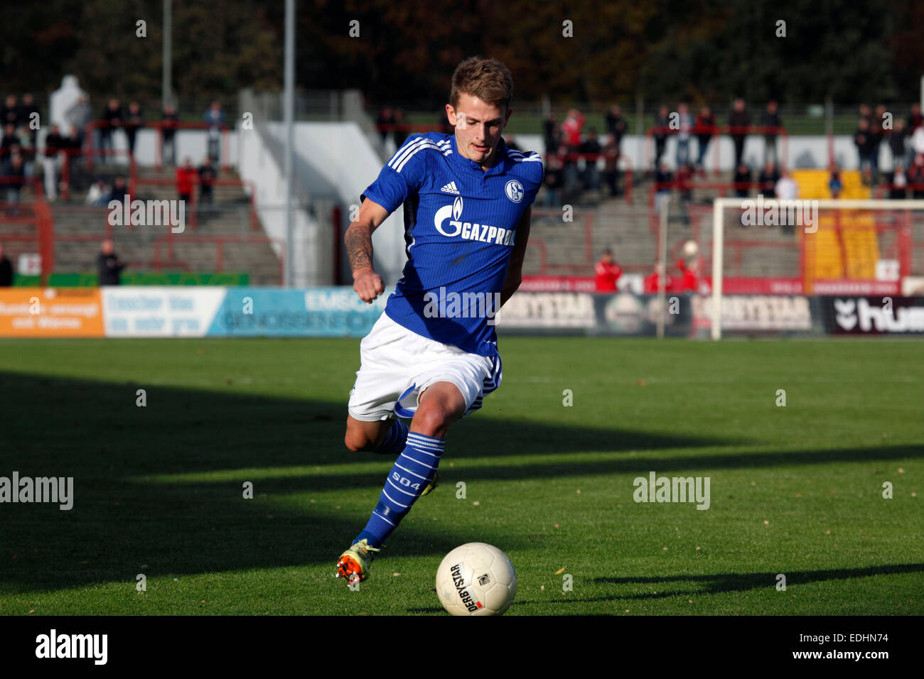 sports, football, Regional League West, 2014/2015, Rot Weiss Oberhausen versus FC Schalke 04 U23 1:1, Stadium Niederrhein - Stock Image