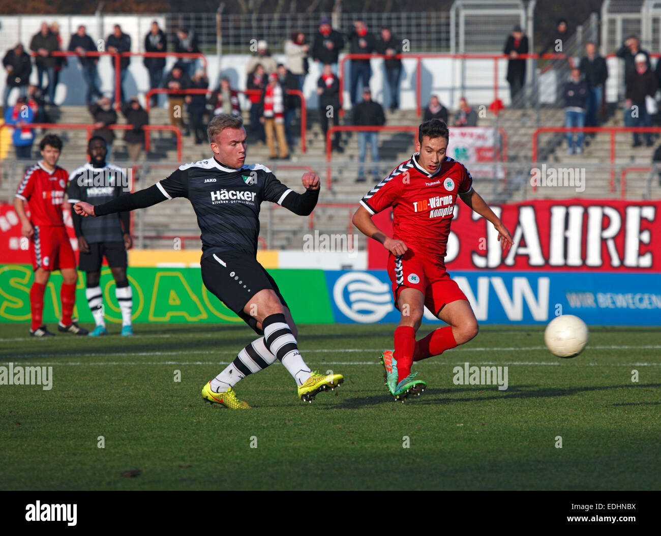sports, football, Regional League West, 2014/2015, Rot Weiss Oberhausen versus SV Roedinghausen 3:1, Stadium Niederrhein - Stock Image