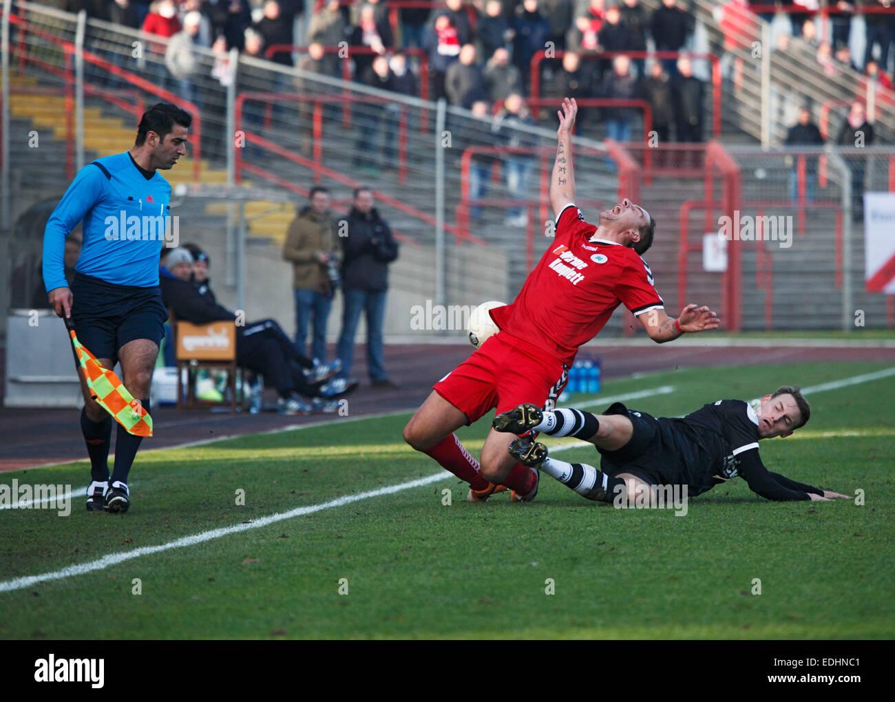 sports, football, Regional League West, 2014/2015, Rot Weiss Oberhausen versus SV Roedinghausen 3:1, Stadium Niederrhein - Stock Image
