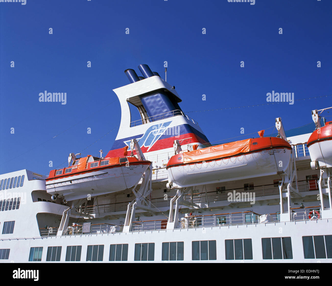 Funnel And Lifeboats Ship Stock Photos & Funnel And