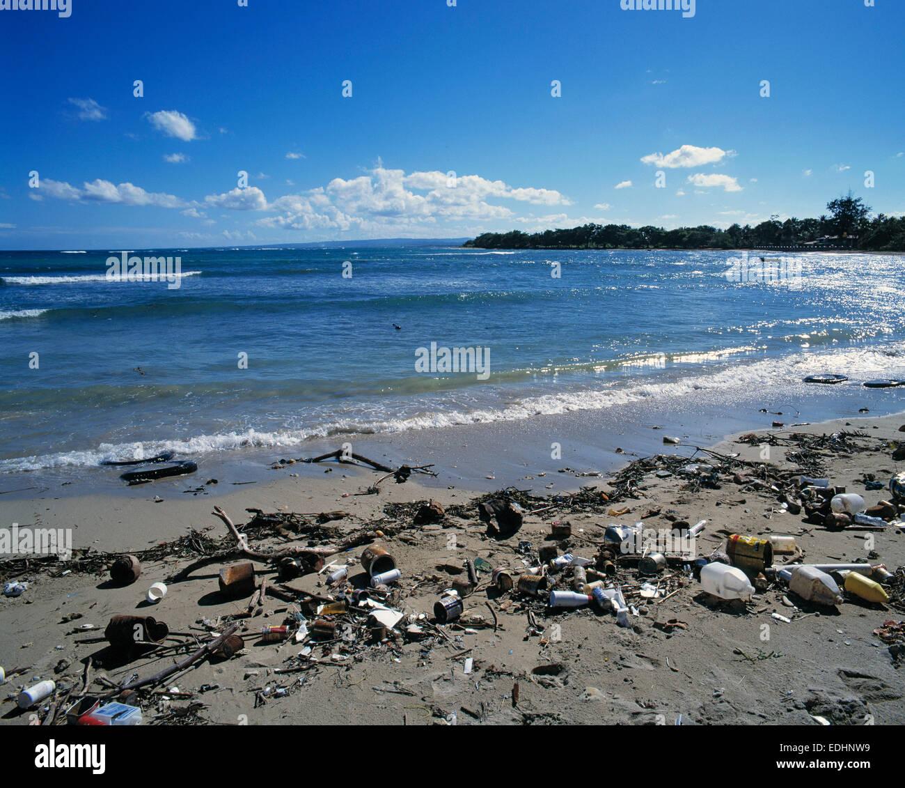 Sandy Beach: Sea, Sandy Beach, Polluted Dream Beach, Waste