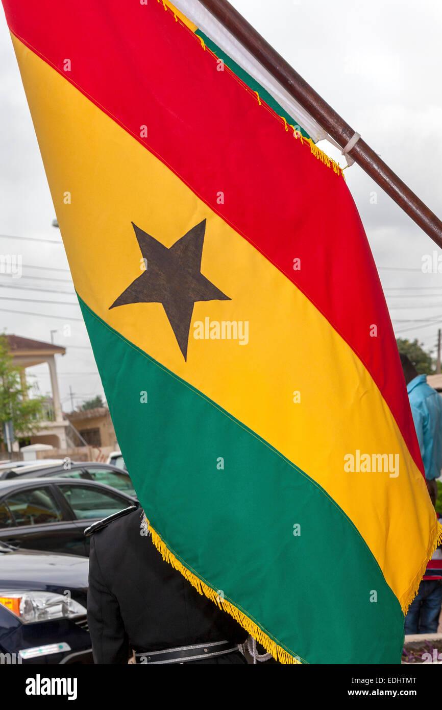Ghana flag - Stock Image