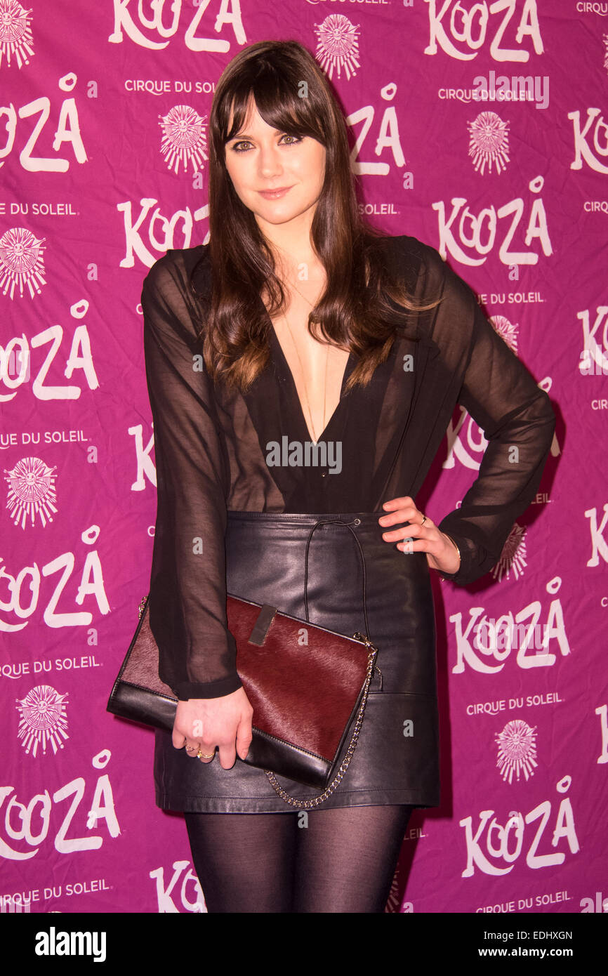 London, UK. 06th Jan, 2015.  Lilah Parsons attends the VIP performance of 'Kooza' by Cirque Du Soleil at - Stock Image