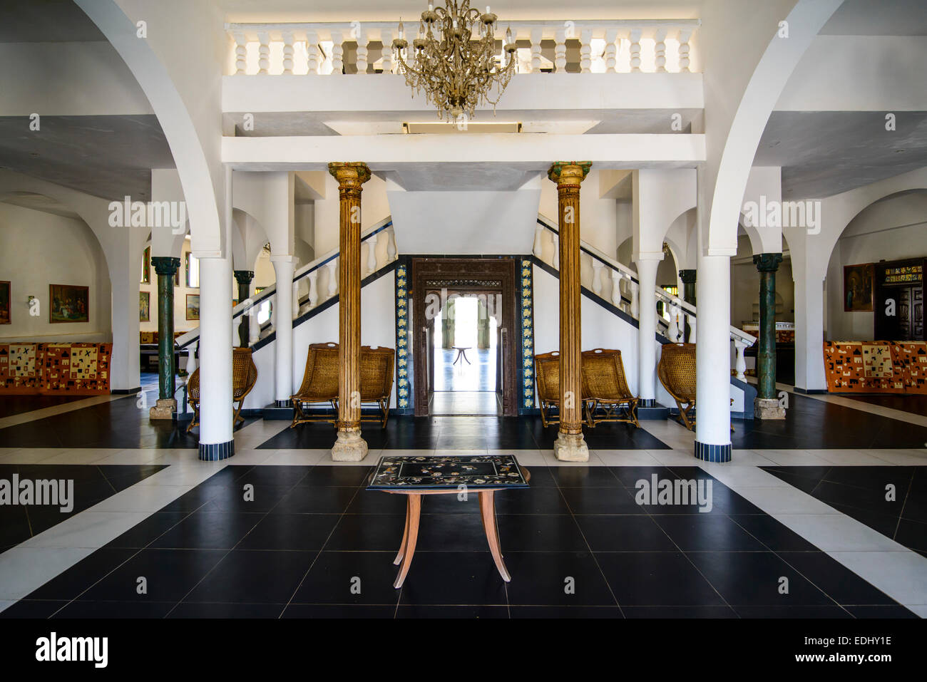 Entrance hall of a luxury hotel massawa eritrea stock for Hotel entrance decor
