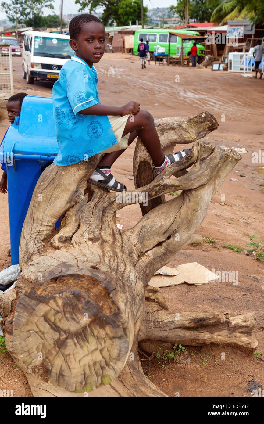 Schoolboy, Accra, Ghana, Africa - Stock Image