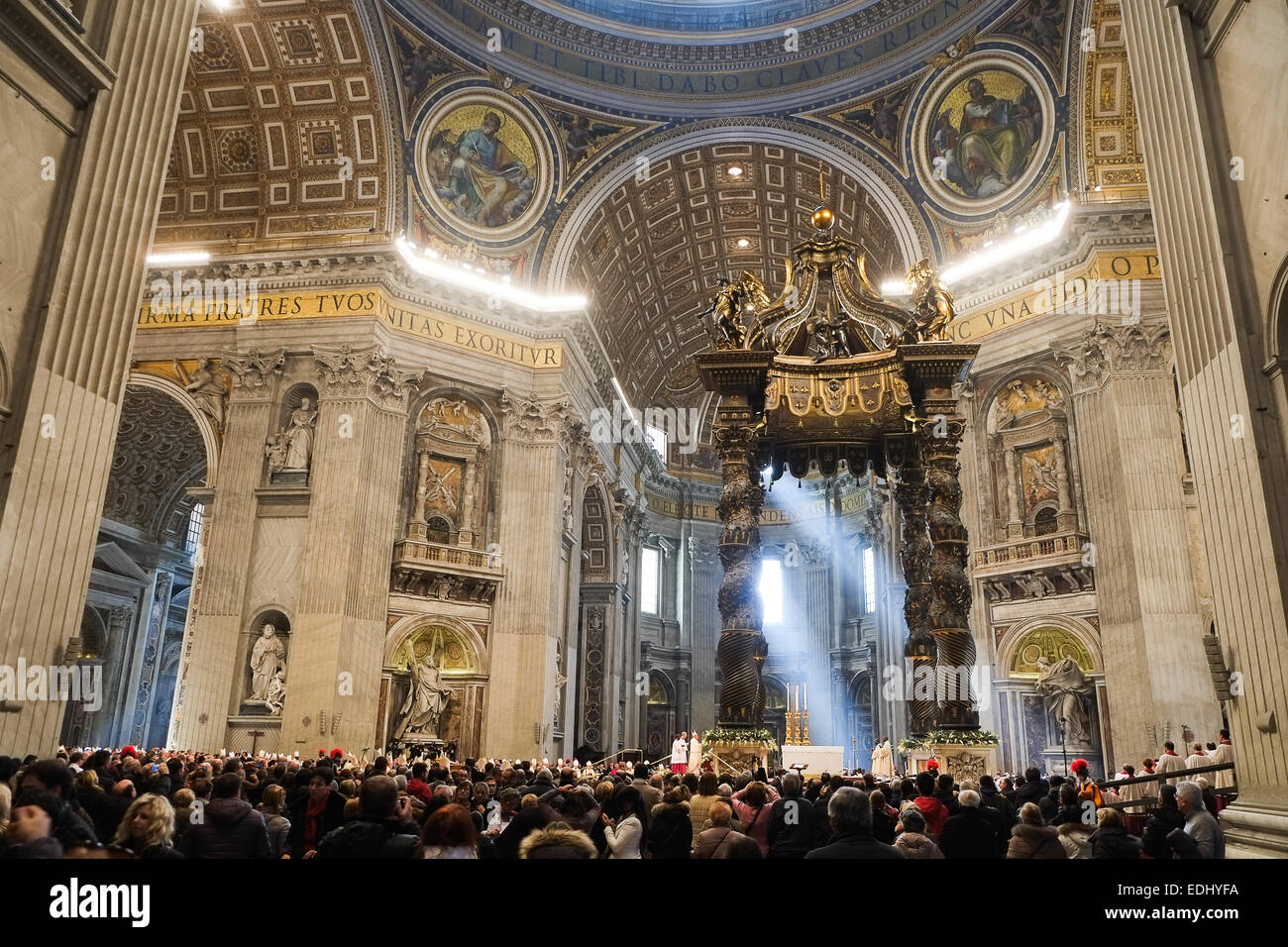 Holy Mass of the Epiphany - Pope Francis - Stock Image