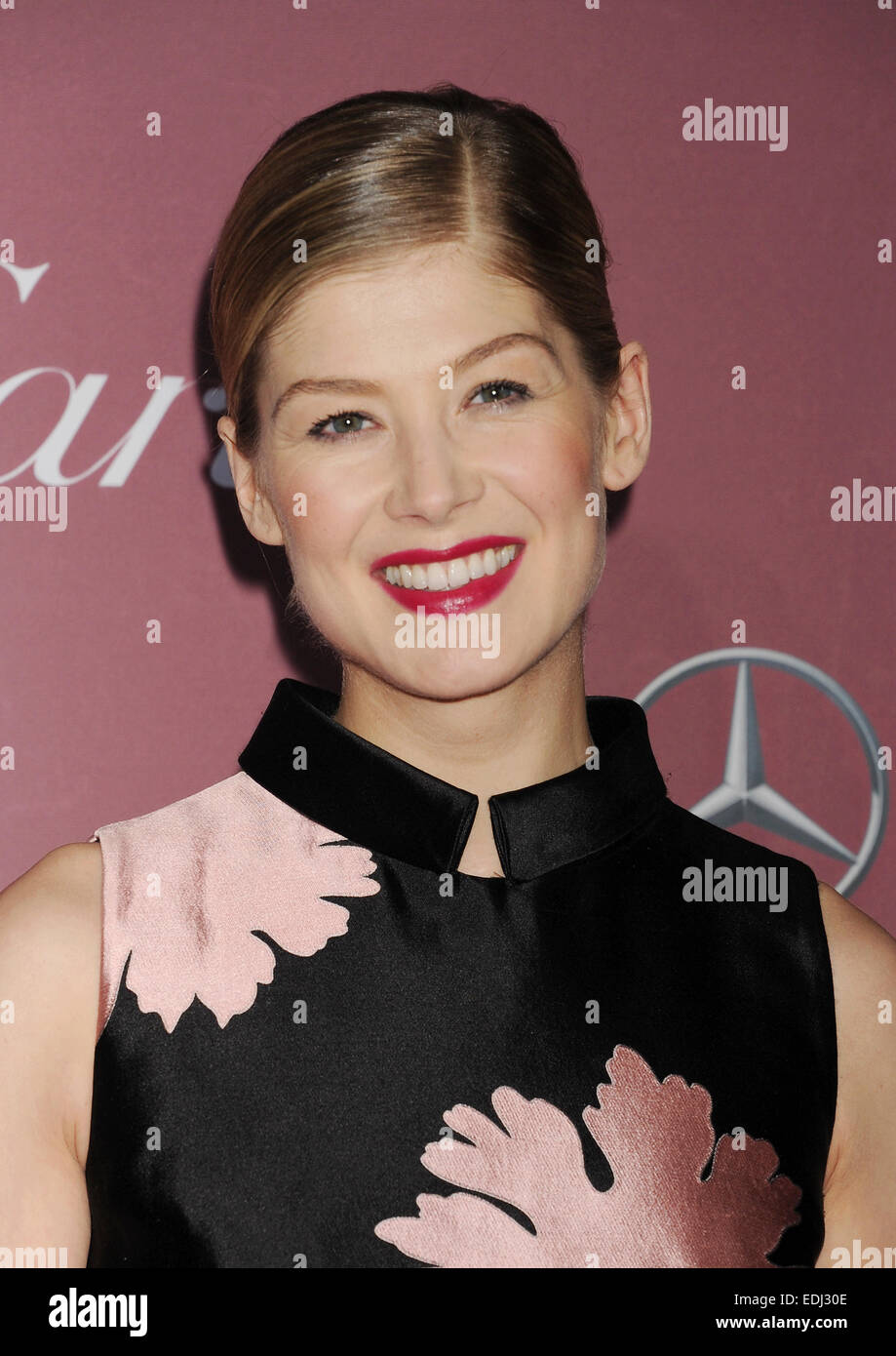 ROSAMUND PIKE English film actress in January 2015. Photo Jeffrey Mayer - Stock Image