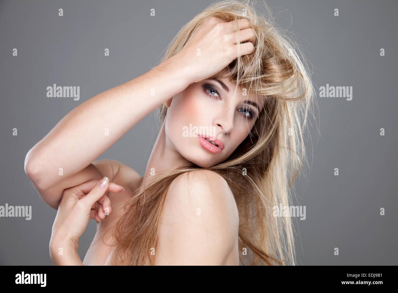 Woman Highlight Hair Salon Stock Photos Woman Highlight Hair Salon