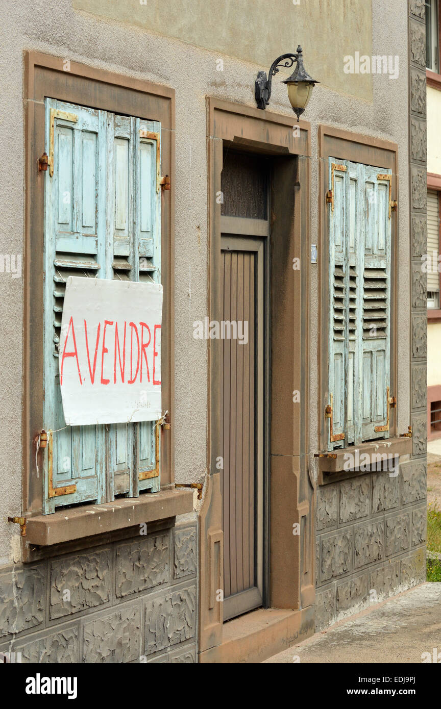 House for sale in a small village in province of Lorraine, France - Stock Image