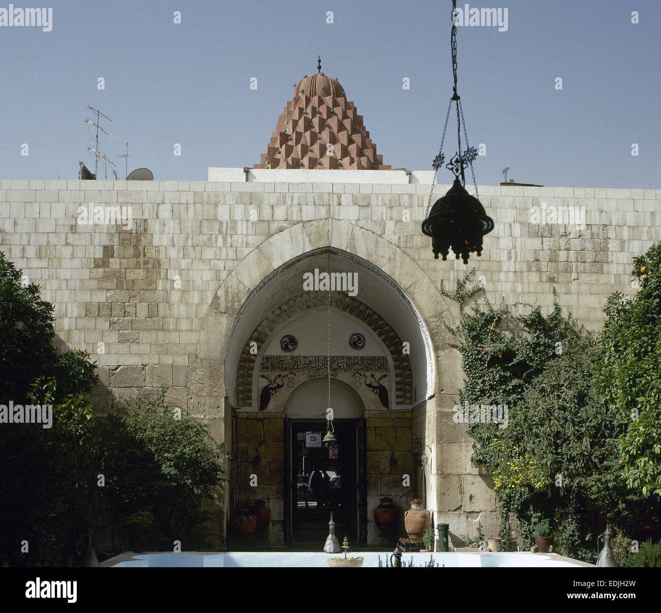 Syria. Damascus. Nur al-Din Bimaristan. Old hospital. Built 1153. Now Museum of Medicine and Science in the Arab - Stock Image