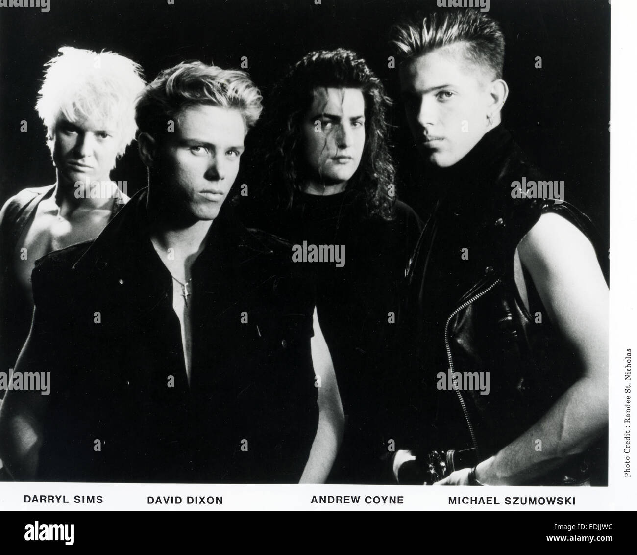 INDECENT OBSESSION Promotional photo of Australian rock group in 1990 - Stock Image