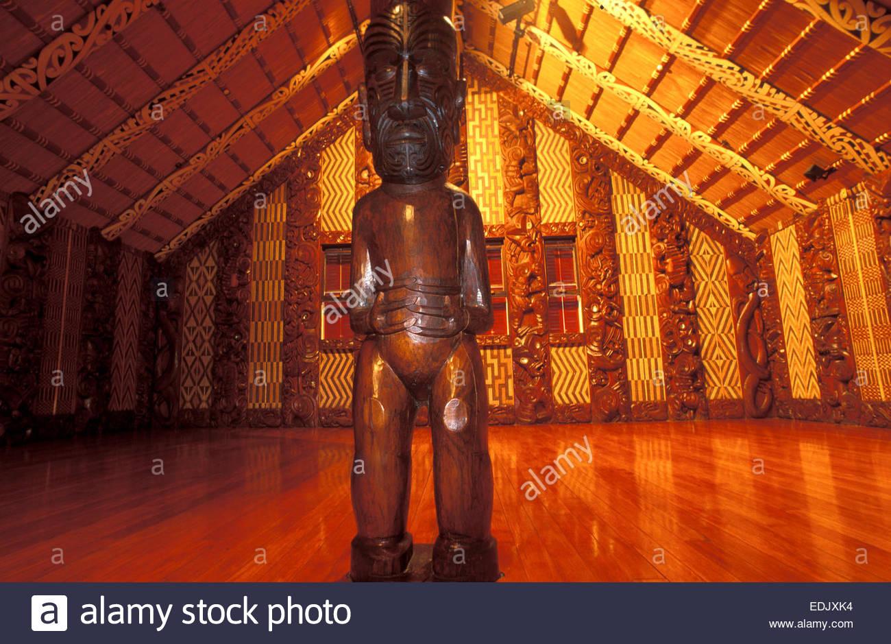 Marae of Waitangi, North Island, New Zealand. - Stock Image