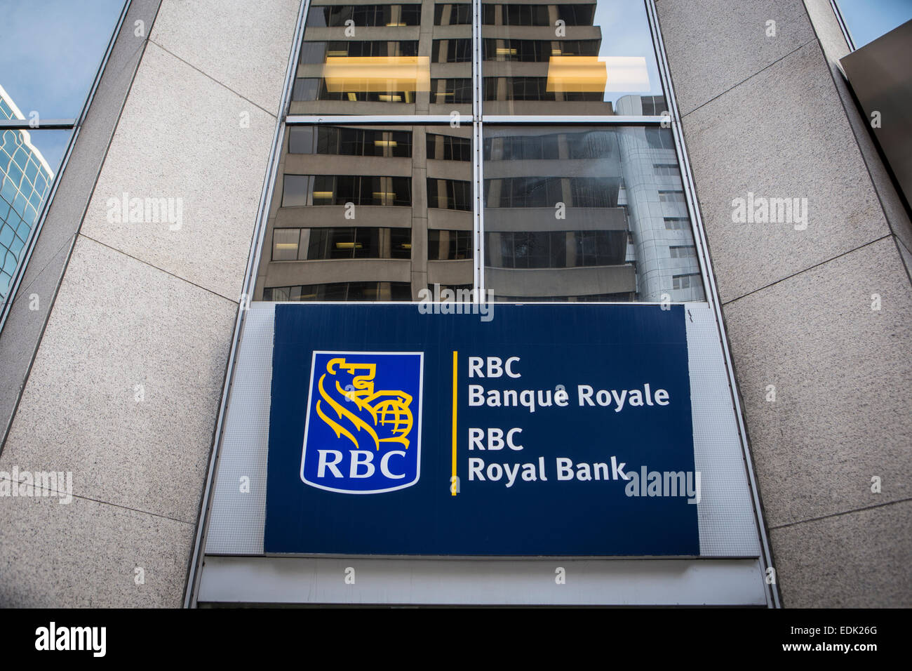 An RBC Groupe Financier (RBC Financial Group) branch office is pictured in Ottawa - Stock Image