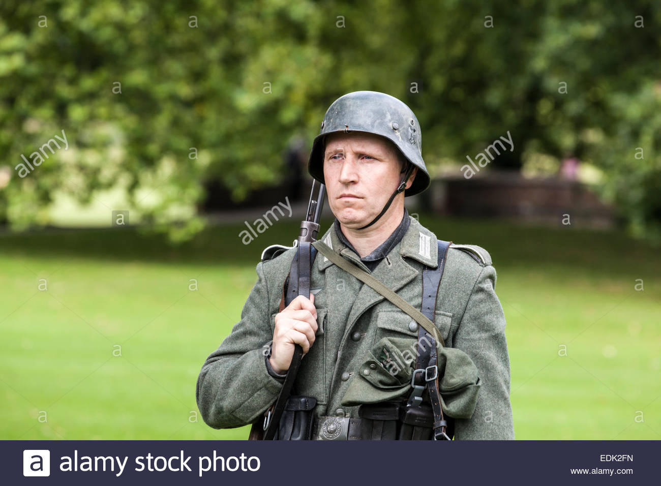 WWII German Army Wehrmacht Soldier - Stock Image