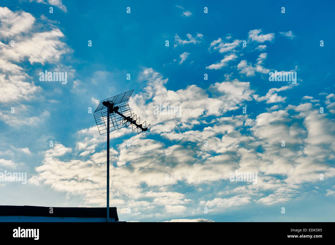 Chalets at California, Norfolk, tv aerial - Stock Image