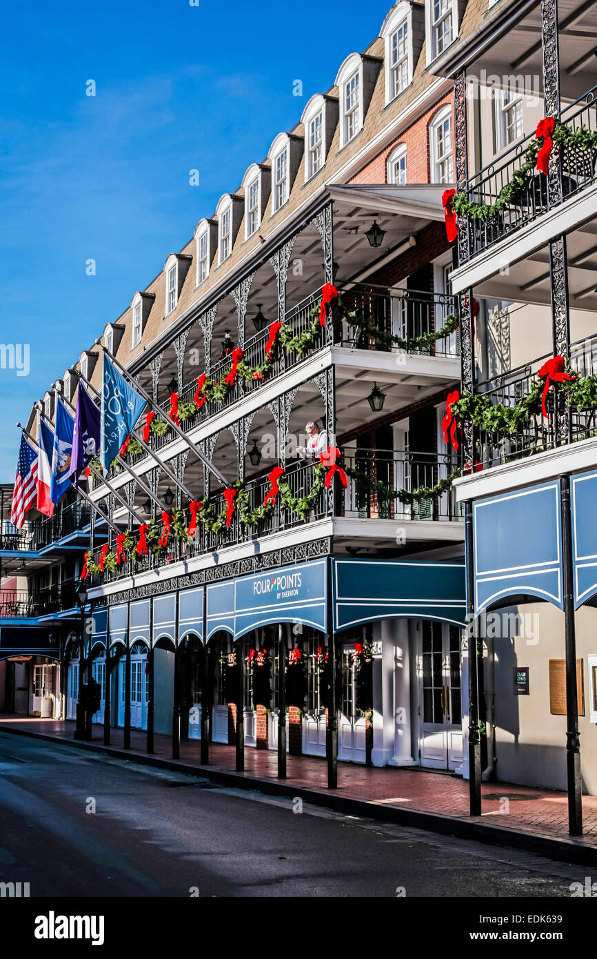 The Sheraton Four Points Hotel On Bourbon Street In New Orleans La