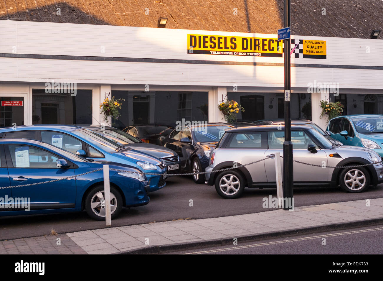 Diesels Direct used car sales in Beccles , Suffolk , England , Britain , Uk - Stock Image