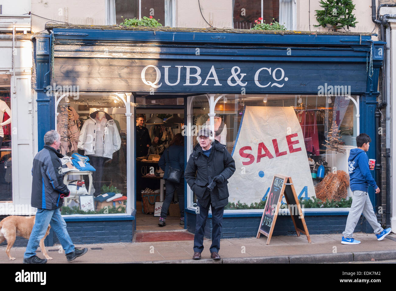 The Quba & Co. shop store at Southwold , Suffolk , England , Britain , Uk - Stock Image