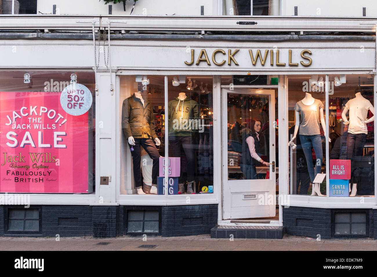 The Jack Wills shop store at Southwold , Suffolk , England , Britain , Uk - Stock Image