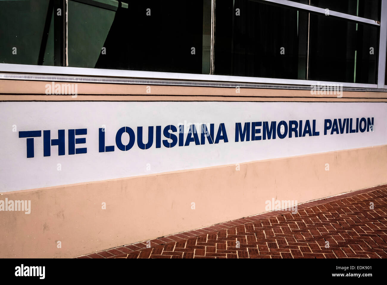 The Louisiana Memorial Pavilion, part of the National WWII Museum in New Orleans LA - Stock Image