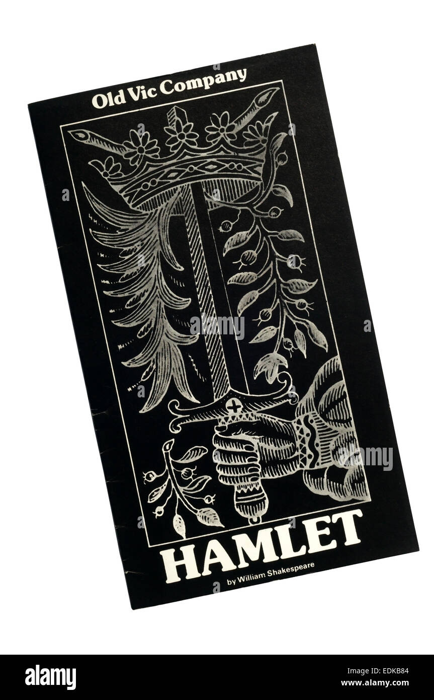 Programme for the 1979 production of Hamlet by William Shakespeare at the Old Vic. - Stock Image