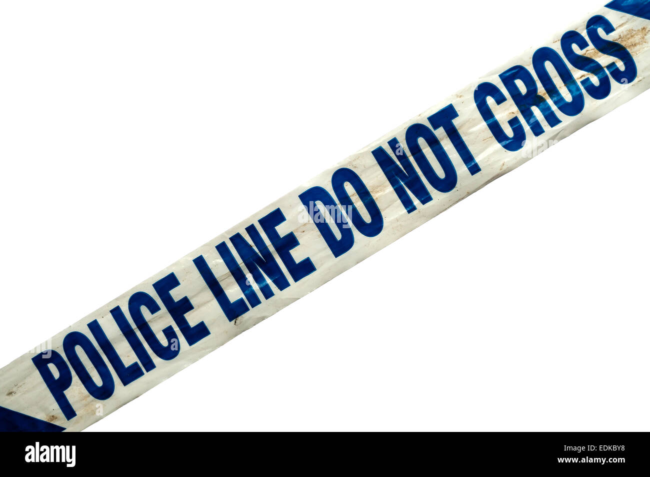 Police Line Do Not Cross message on police tape. - Stock Image