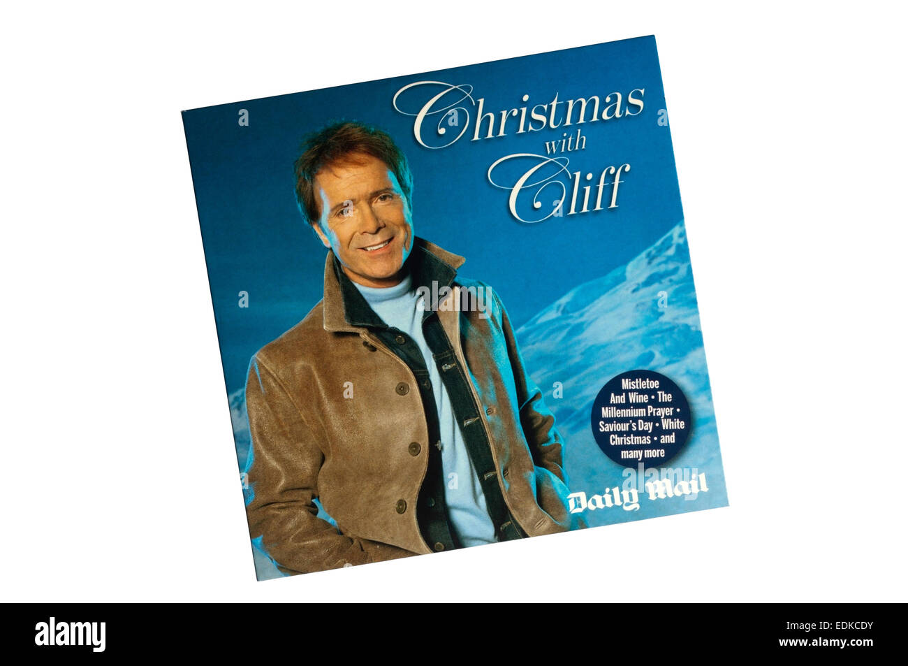 Christmas with Cliff was a Christmas record of Cliff Richard songs given away free with the Daily Mail newspaper. - Stock Image