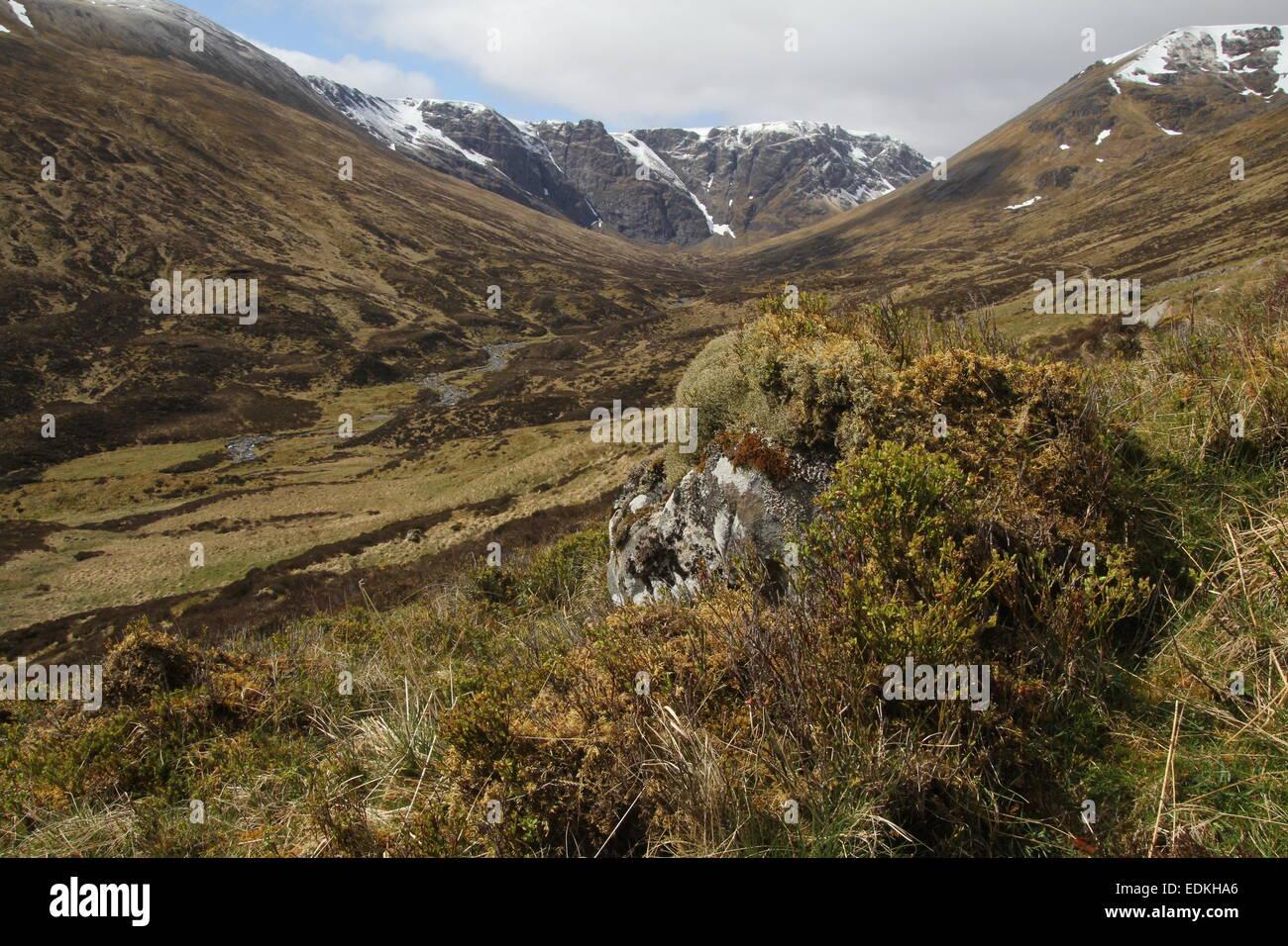 Scottish Mountain scenery - Stock Image