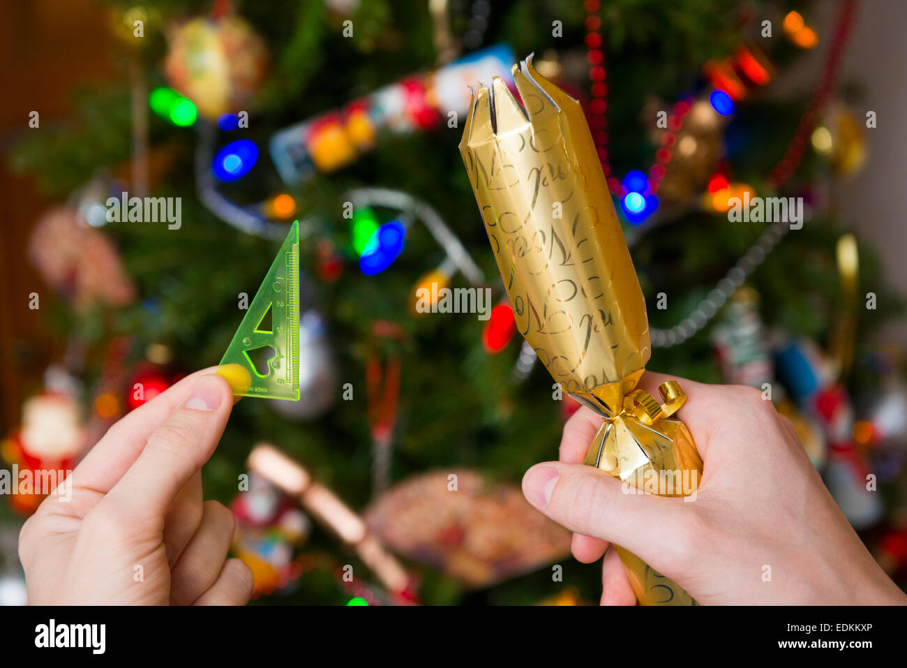 A toy from a Christmas cracker. - Stock Image