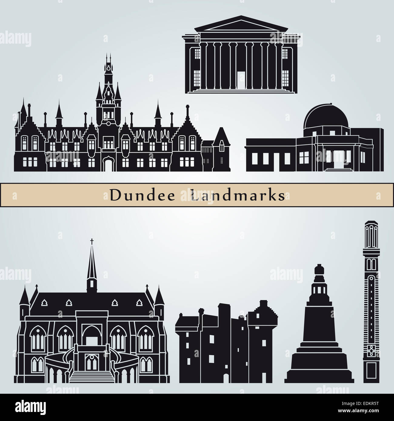 Dundee landmarks and monuments - Stock Image
