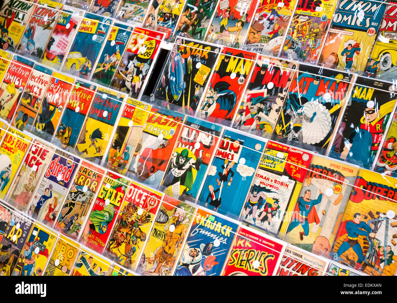 Superhero Comic Books - Stock Image