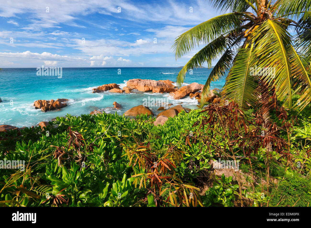Seychelles, La Digue Stock Photo