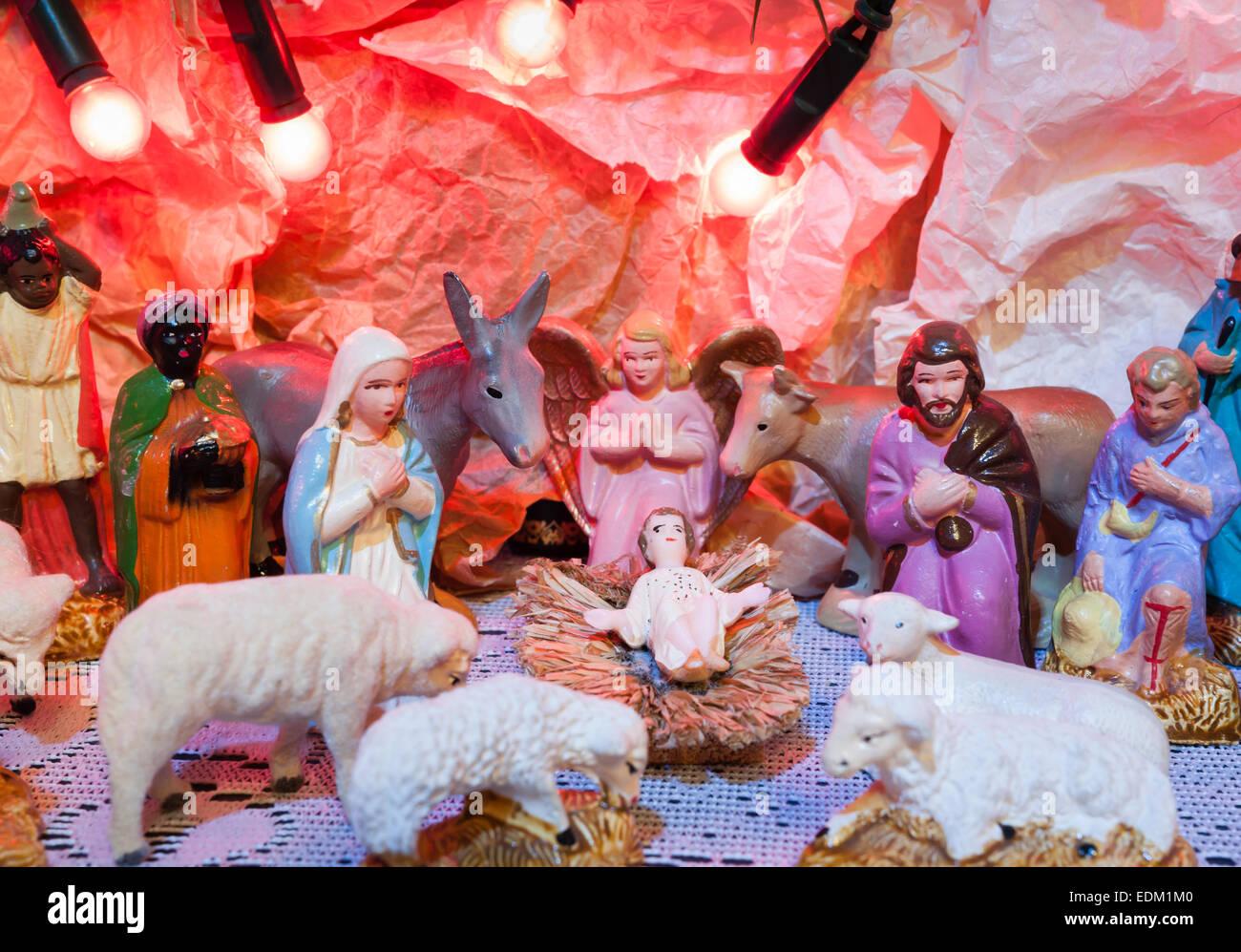 Colorful Image Jesus Child Virgin Stock Photos & Colorful Image ...