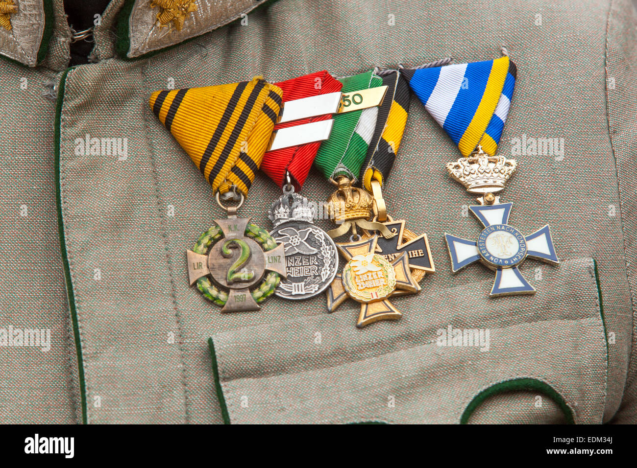 Decorations And Medals Uniform Austro Hungarian Soldier