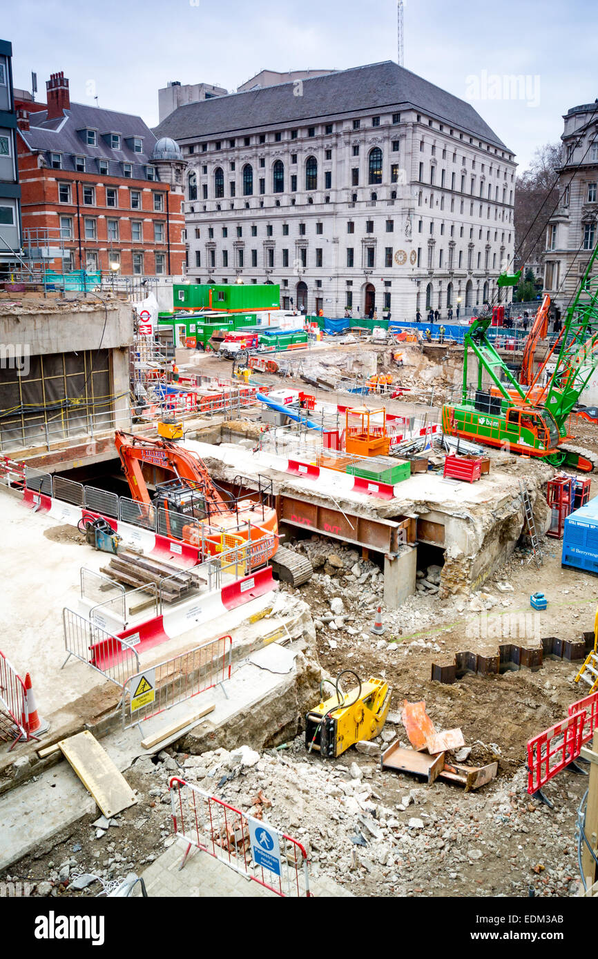Crossrail construction. Moorgate, London - Stock Image
