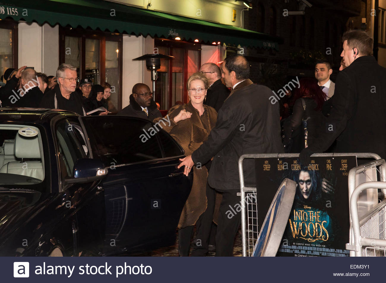 London, UK. 7th January, 2015. Meryl Streep, star of Into The Woods, arriving at the film's premier, Curzon Cinema, Stock Photo