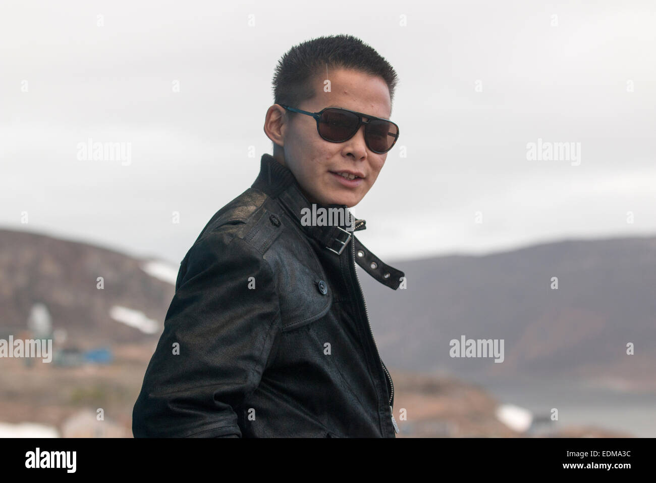 Kristian Karl, 19, from East Greenland. - Stock Image