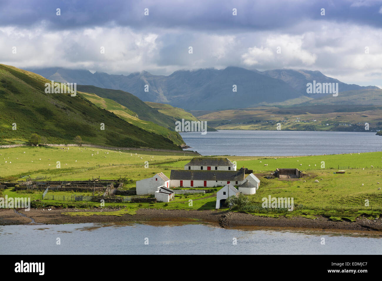 gesto farmhouse loch harport skye - Stock Image