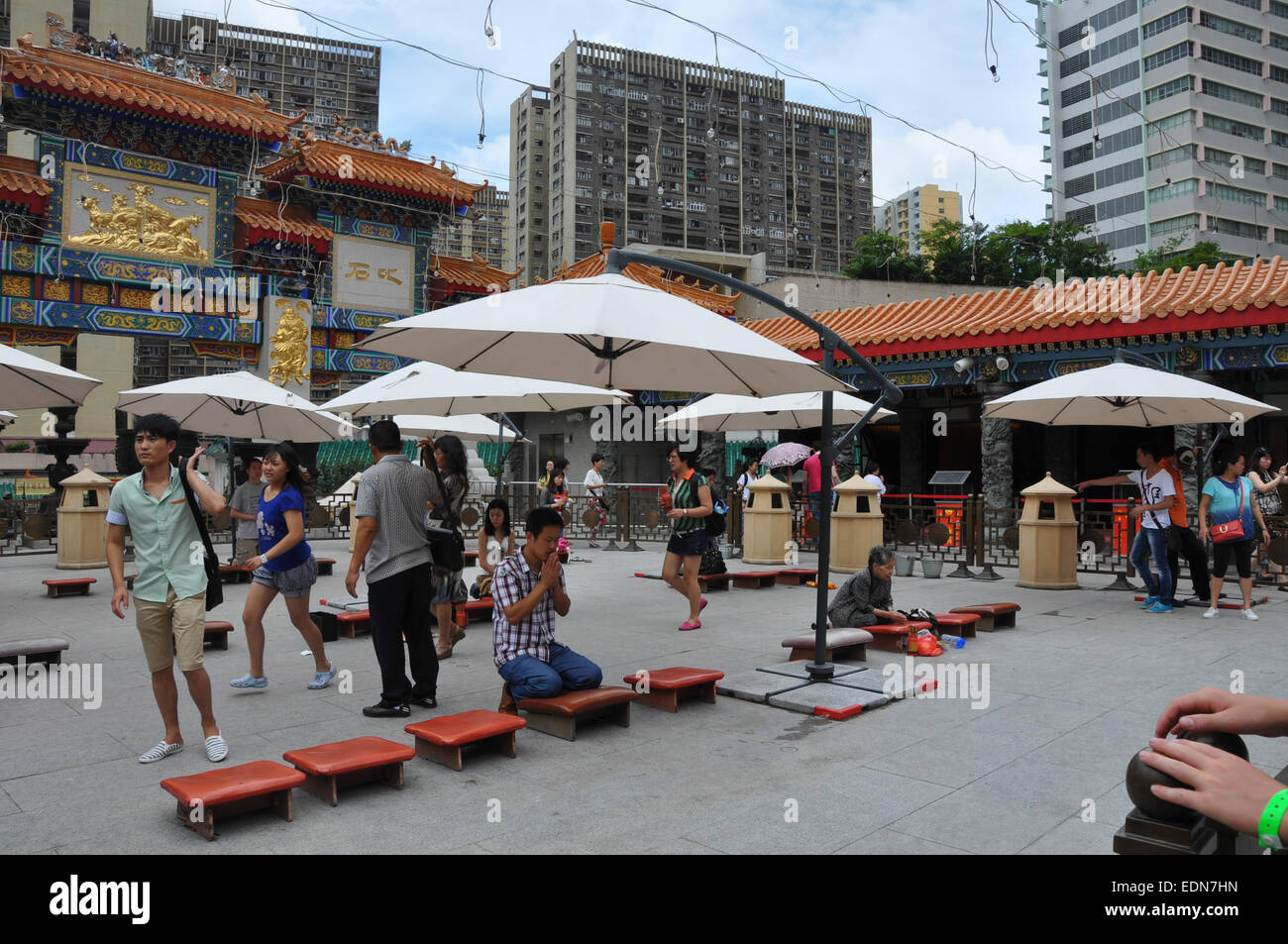 Sik Sik Wong Tai Sin temple, Kowloon, Hong Kong, which claims to 'make every wish come true upon request' - Stock Image