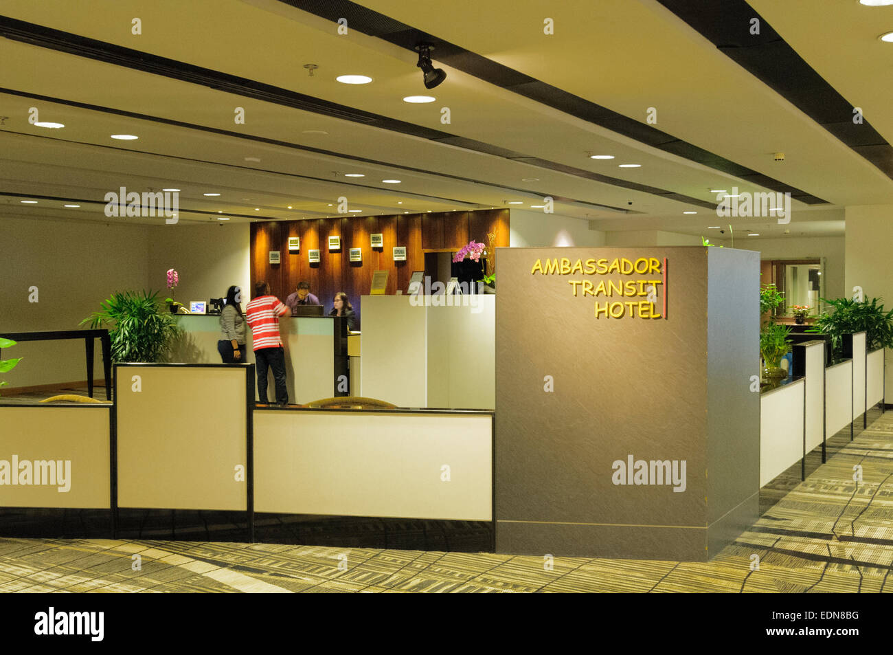 Singapore Changi international airport Ambassador Transit Hotel - Stock Image
