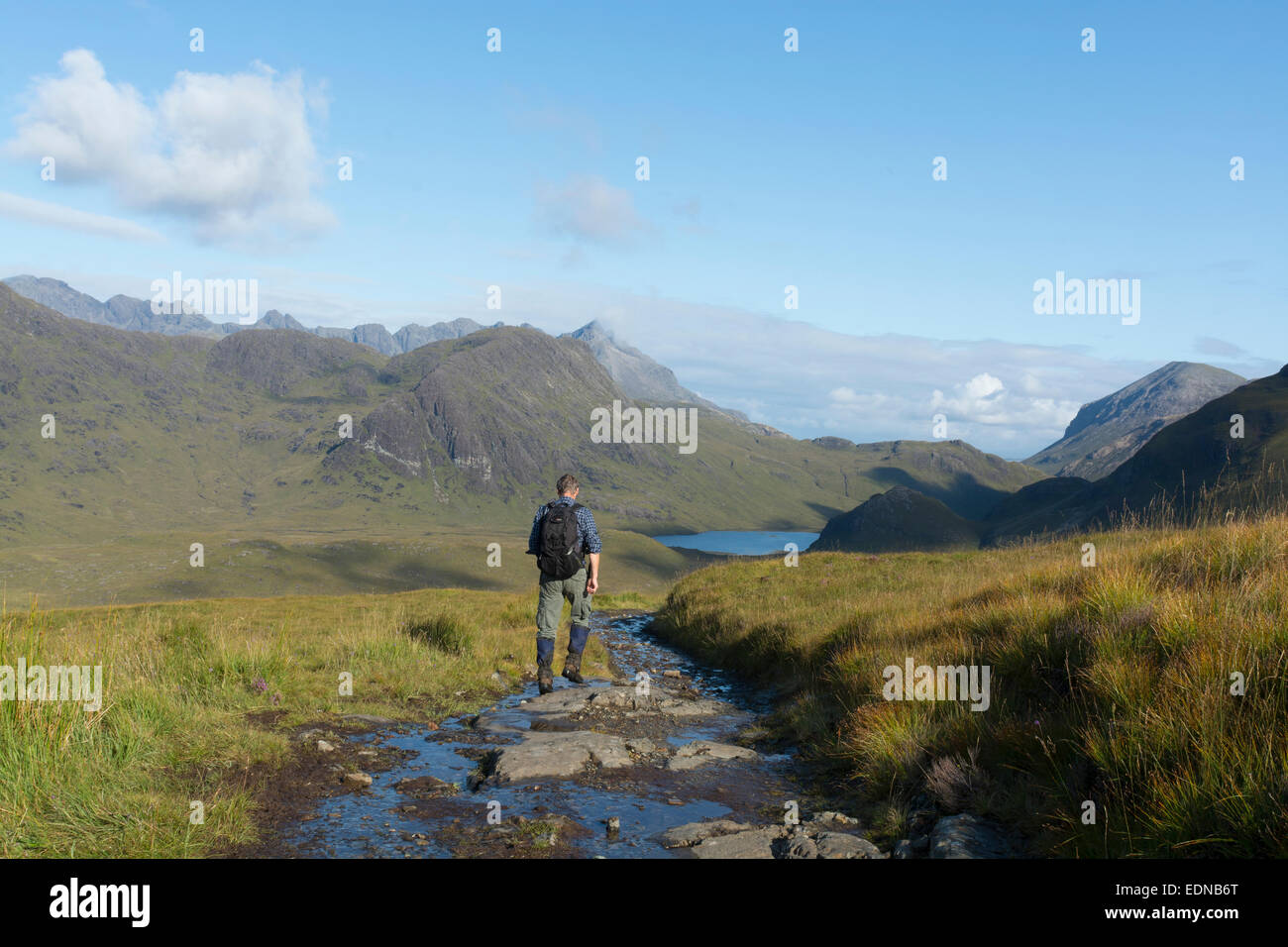 camasunary strathaird walker path trail rambler - Stock Image