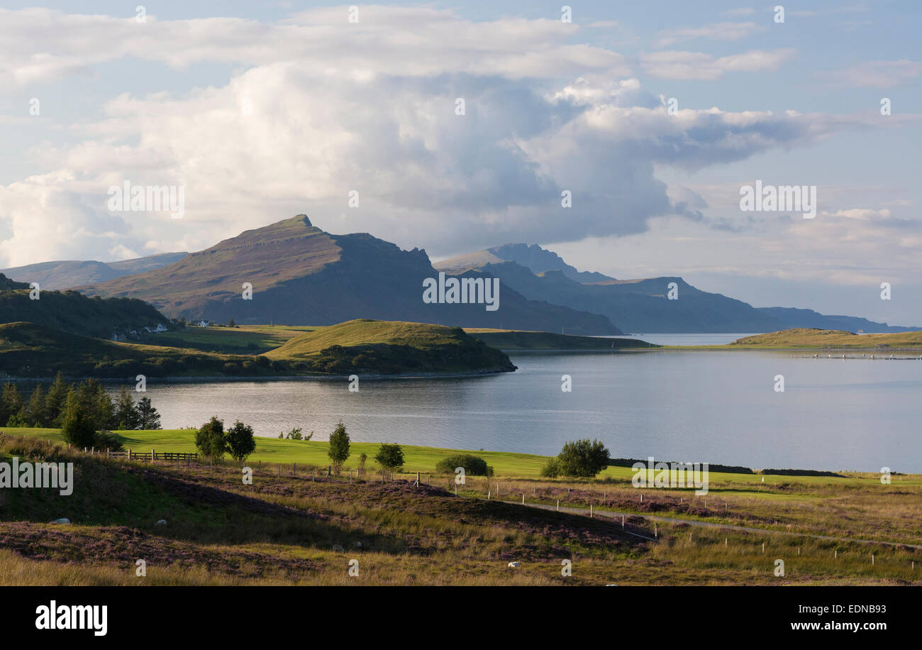 old man of storr portree mountains loch sligachan sconser view - Stock Image