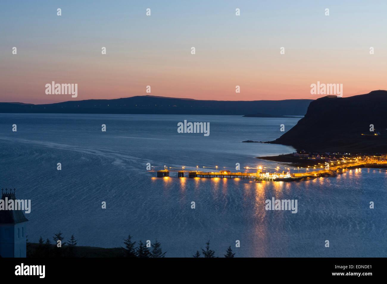 uig at dusk isle of skye - Stock Image