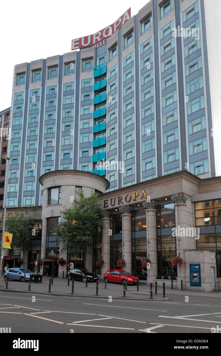 Europa Hotel, Great Victoria Street, Belfast, Northern Ireland - Stock Image