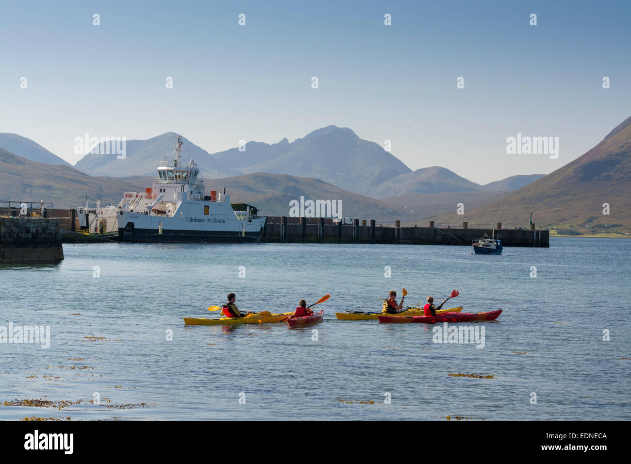 inverarish sconser calmac ferry to raasay - Stock Image